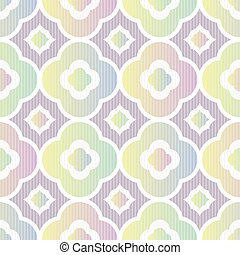 geometric seamless vector pattern in pastel ombre