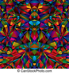 Colorful geometric surface seamless pattern, vector background eps 10.