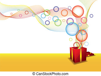 Gift box and bubble