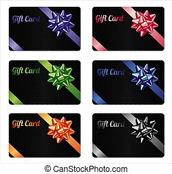 Gift card set. Different nominations.