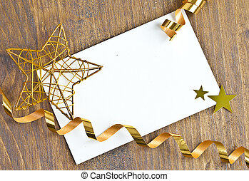 Gift tag with copy space for christmas