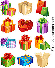 Vector illustration - gift box icon set