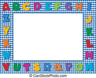 Gingham Alphabet Frame