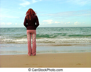 girl looking into the distance
