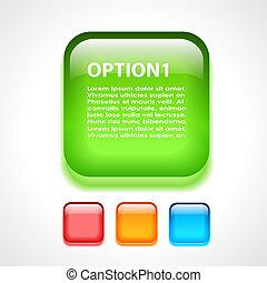 Glass option button