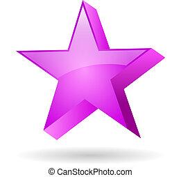 Glass pink star