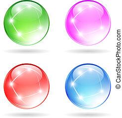Glass sparkling ball