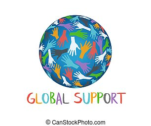 Global Support People Helping Hands