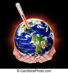 Concept of global warming threat.