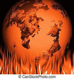 Conceptual image depicting global warming