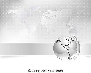 Globe, world map - business concept