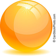 Glossy ball.
