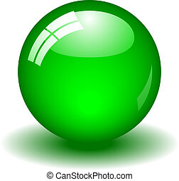 Glossy Green Ball