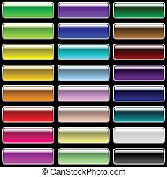 Glossy rectangular buttons