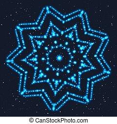 Glowing Blue Star for Celebratory Decor.