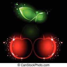 Glowing cherry
