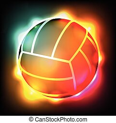 Glowing Colorful Volleyball