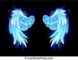 Glowing folded wings