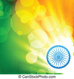 glowing indian flag vector