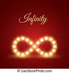 Glowing Infinity Symbol Background