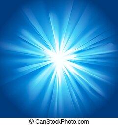 Glowing light blue burst