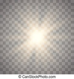 Glowing light burst explosion