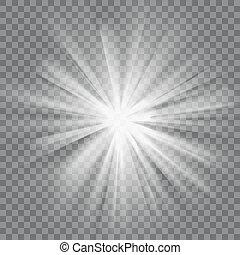 Glowing light burst
