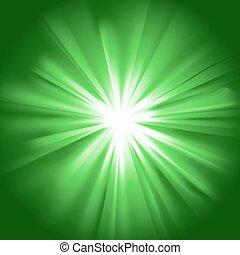 Glowing light green burst