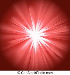 Glowing light red burst