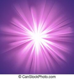 Glowing light violet burst
