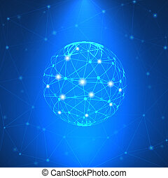 Glowing network sign vector illustration