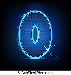 Glowing Number Zero