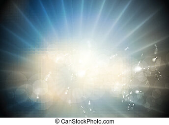 Glowing vector sunlight background