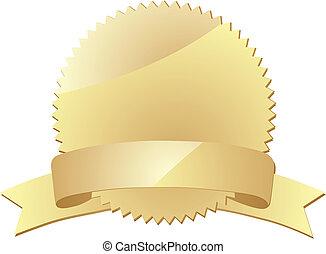 gold award label eps 10