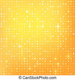 Gold background with dots.