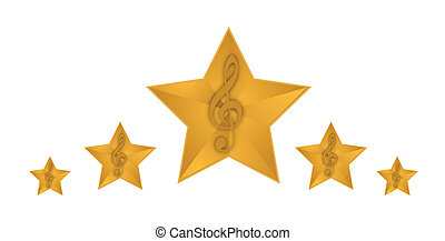 gold music stars illustration