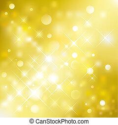Vector illustration layered of golden glittering background.