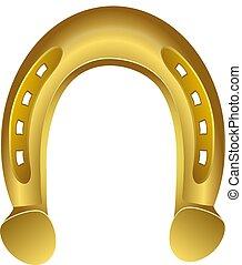 Golden Horseshoe. Vector Illustration