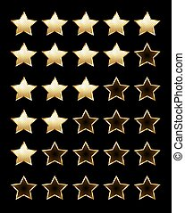 Golden rating stars