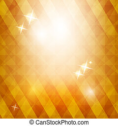 Golden triangle background with stars