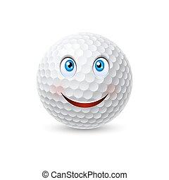 Golf ball cartoon character