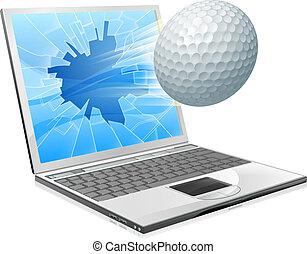 Golf ball laptop screen concept