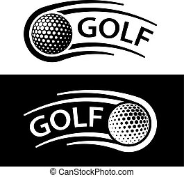 golf ball motion line symbol