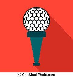 Golf ball on a tee flat icon