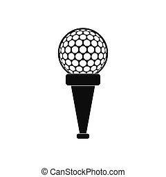 Golf ball on a tee icon