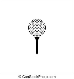 Golf Ball On Tee Icon