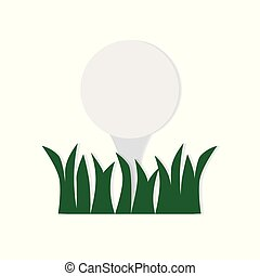 golf ball on tee in the grass