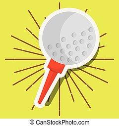 golf ball on tee sport
