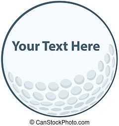 Golf Ball Sign Cartoon Character
