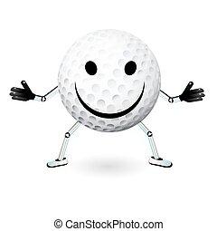 golf ball smiley